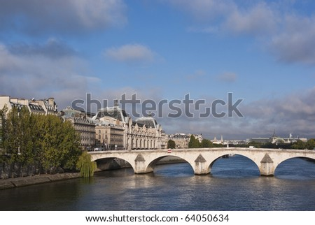 Pont Royal and Port de Solferino, showing the Musee d'Orsay in Paris Converted from RAW