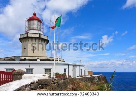 Ponta do Arnel Lighthouse in Nordeste, Sao Miguel, Azores