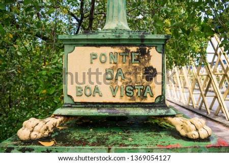 Ponte da Boa Vista (Boa Vista Bridge), originally built in 1640 in wood, but redone in iron in the XIX century. Recife - Pernambuco, Brazil #1369054127