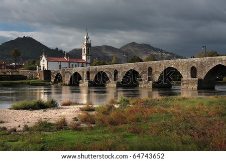Ponte de Lima Bridge and Church