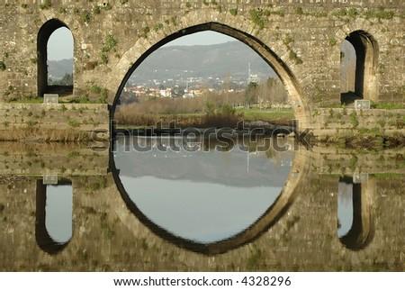 ponte de lima bridge detail