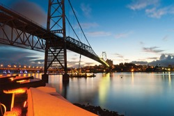 Ponte Hercilio Luz in Golden Hour