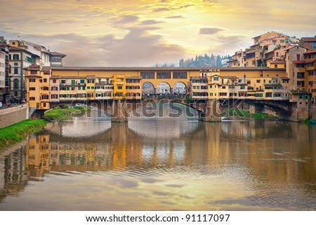 Ponte Vecchio, Florence, Italy - stock photo