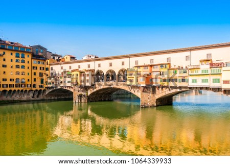 Ponte Vecchio in Florence in Tuscany, Italy #1064339933