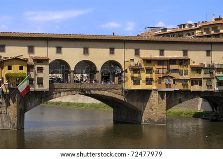 Ponte Vecchio in Florence Italy on summer day