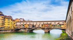 Ponte Vecchio on the Arno river in Florence, Tuscany in Italy