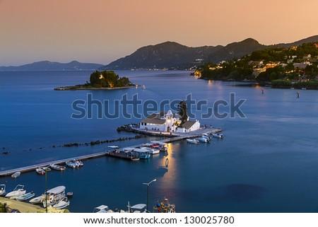 Pontikonisi in Corfu island, Greece - stock photo