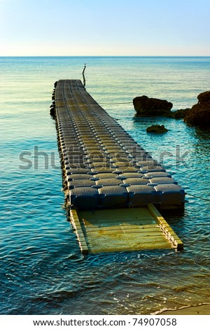 pontoon pier in turkey