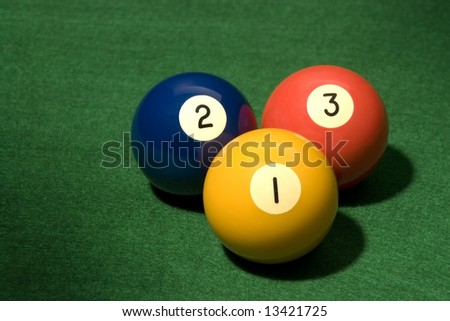 Pool Ball on green velvet