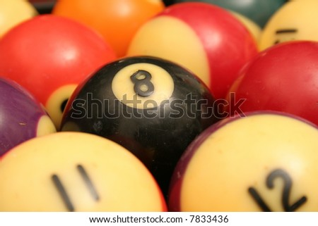 pool balls background