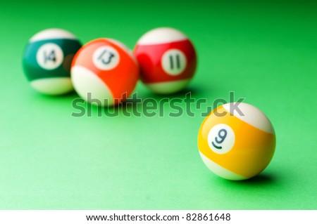 Pool balls on the table
