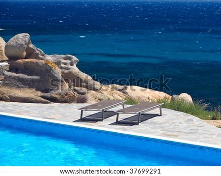 Pool by the Sea, taken in Naxos, Greece
