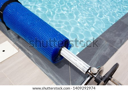 pool cover blue bubble solar equipment to hot water #1409292974