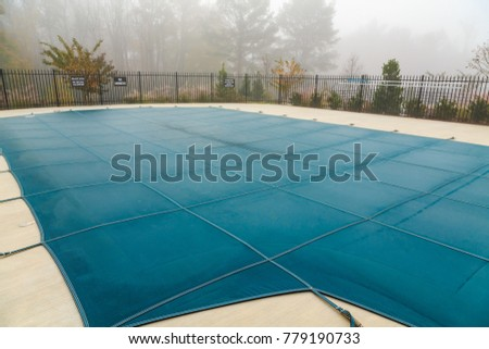 Pool Cover in Fog #779190733