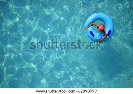 Pool Float, room for your text - stock photo