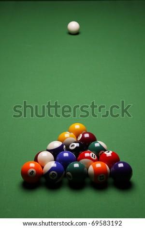 Pool game on table! Billiard game