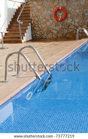 pool image with access stairway