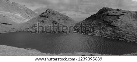 Pool in mountains, Isle of Skye, Scotland. Stock fotó ©