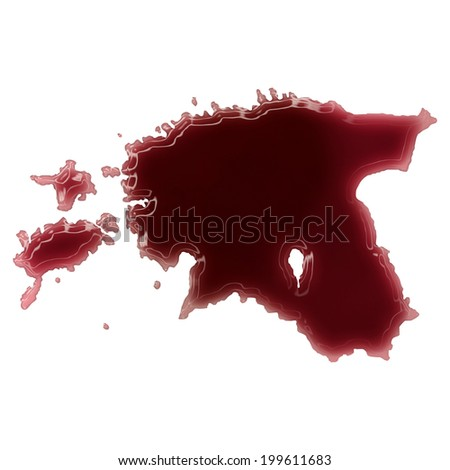 Pool of blood (or wine) that formed the shape of Estonia. (series) #199611683