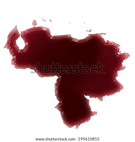 Pool of blood (or wine) that formed the shape of Venezuela. (series) #199610855
