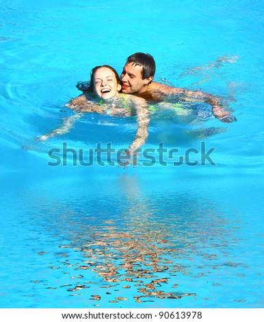 Pool Portrait - stock photo