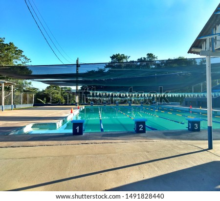 Pool ready for swimming competitions #1491828440