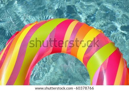 Pool ring / float in swimming pool.