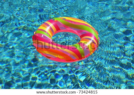 Pool ring / float in swimming pool