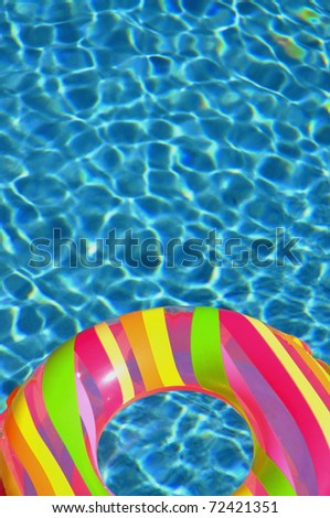 Pool ring / float in swimming pool perfect for cover art