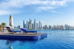 Pool view to Dubai Marina