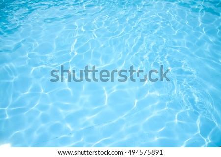 Pool water background - Shutterstock ID 494575891