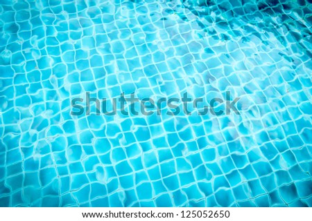 pool with blue ceramic tiles and water ripple effect