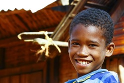 Poor African boy, poverty in Madagascar