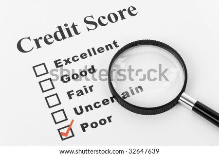 Poor Credit, Business Concept for Background