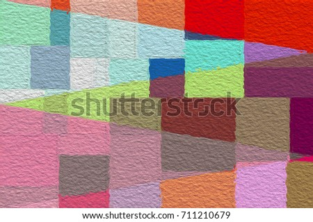 pop art color tone in color block pattern abstract background