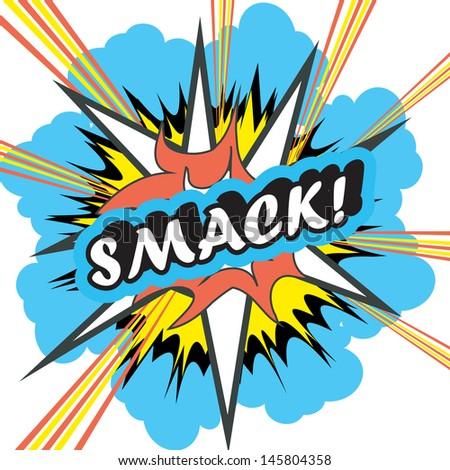 Smack Pop Text Pop Art Explosion Smack Stock