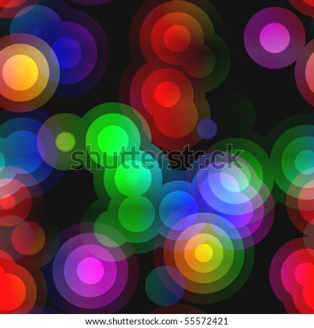 Pop Art Random Concentric Circles 08 Seamless