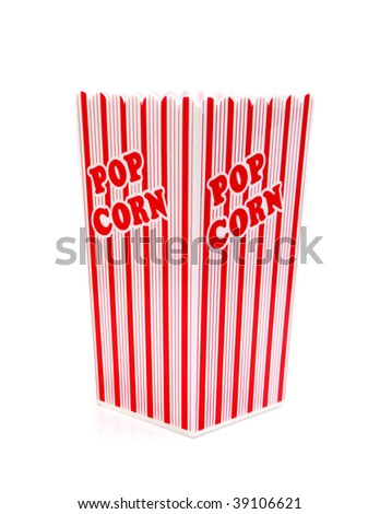 pop corn box isolated against white background