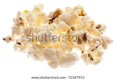 pop corn on a bowl, extreme closeup photo
