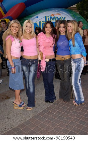 Pop group NO SECRETS at the world premiere, in Hollywood, of Jimmy Neutron: Boy Genius. 09DEC2001.    Paul Smith/Featureflash