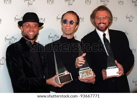Pop group The BEE GEES at the American Music Awards in Los Angeles.  1997 Paul Smith / Featureflash