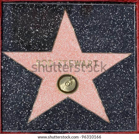 Pop star Rod Stewart's star on the Hollywood Walk of Fame.  October 11, 2005 Los Angeles, CA.  2005 Paul Smith / Featureflash