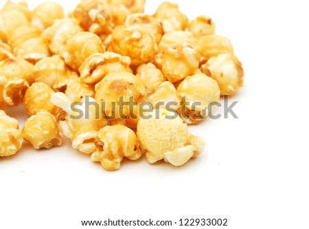 Popcorn border isolated on white
