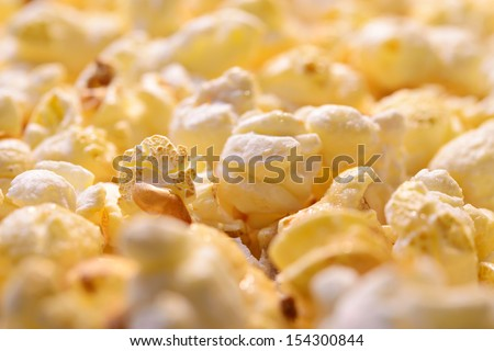 Popcorn close-up, whole background
