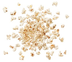 popcorn explode or splashing against white background