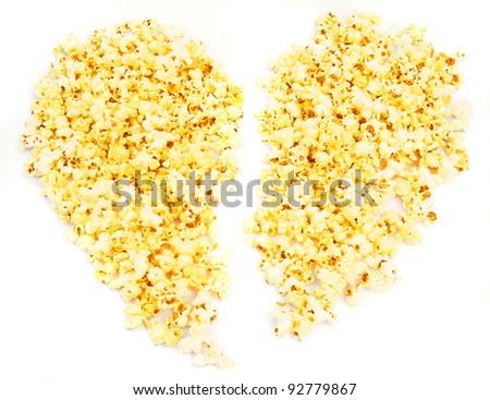 Popcorn heart.