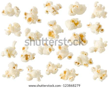 Popcorn isolated on white background Foto stock ©