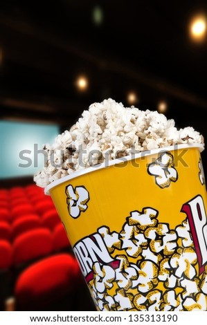 Popcorn to watch a movie entertaining