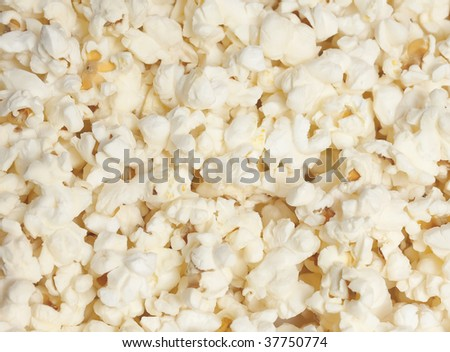 Popped popcorn, ready for eating