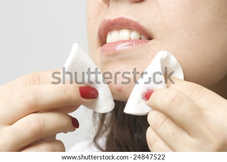 Popping a zit